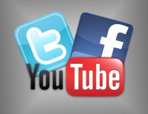 Facebook, Twitter, Youtube